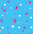 pink flamingo cute seamless pattern background vector image vector image