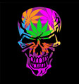 psychedelic skull isolated vector image