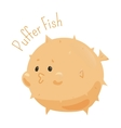 Puffer fish Child fun pattern icon vector image vector image