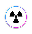 radioactive icon isolated on white background vector image vector image