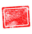 red rectangular grunge stamp with blank vector image vector image