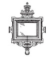 renaissance strap-work frame was made during the vector image vector image