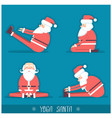 Santa claus doing yoga isolated for design