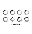 set loading icon vector image vector image