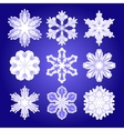 set of filigree snowflakes vector image vector image
