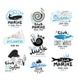 set retro clubs and bars logo and emblems vector image