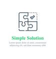 simple solution concept puzzle combination vector image