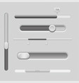 sliders gray control level buttons horizontal vector image vector image