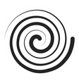 spiral black icon abstract swirl illusion vector image vector image