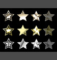 stars of precious metals vector image