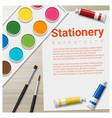 Stationery background with school supplies