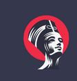 statue cleopatra or nefertiti vector image