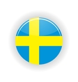Sweden icon circle vector image vector image