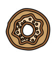 sweet donut isolated icon vector image vector image