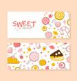 sweet shop banner templates set banner tasty vector image