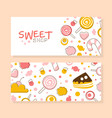 sweet shop banner templates set banner tasty vector image vector image