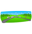 Towing Caravan on the Road vector image vector image