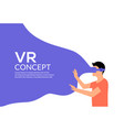 vr reality virtual reality vector image