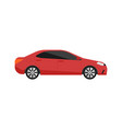 red sedan car icon in flat design vector image