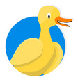 yellow duck icon app vector image