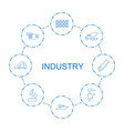 8 industry icons vector image vector image