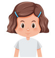 a brunette girl character vector image