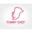 abstract chef face logo template vector image vector image