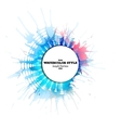 Abstract circle white banner with place for text vector image vector image
