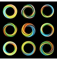Abstract colorful collection logos Hurricane vector image