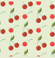 abstract cute seamless pattern with cherry vector image vector image
