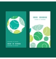 abstract green circles vertical round frame vector image vector image