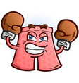 angry boxer shorts cartoon character vector image