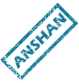 Anshan rubber stamp vector image vector image
