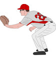 baseball player detailed vector image vector image