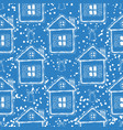 blue christmas seamless pattern vector image vector image
