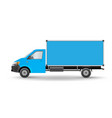 blue truck template cargo van eps 10 isolated on vector image