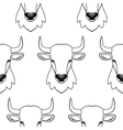 Bull seamless pattern vector image vector image