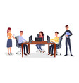 business meeting team management vector image