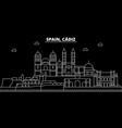 cadiz silhouette skyline spain - cadiz vector image vector image