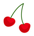 cherry icon cartoon style vector image