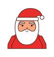 christmas portrait happy santa claus character vector image vector image