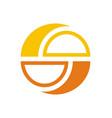 circle balance round logo vector image vector image