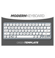 clean and minimalistic keyboard template for apps vector image