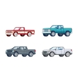 Colorful Pickup Truck Models Collection vector image vector image