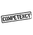 competency stamp on white vector image vector image