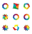 Computer download colorful icons set vector image vector image