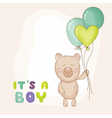 cute babear background vector image vector image