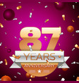 eighty seven years anniversary celebration design vector image vector image