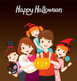 Family Happy Halloween Together vector image vector image