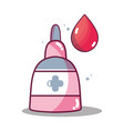 first aid oinment treatment with blood drop vector image vector image